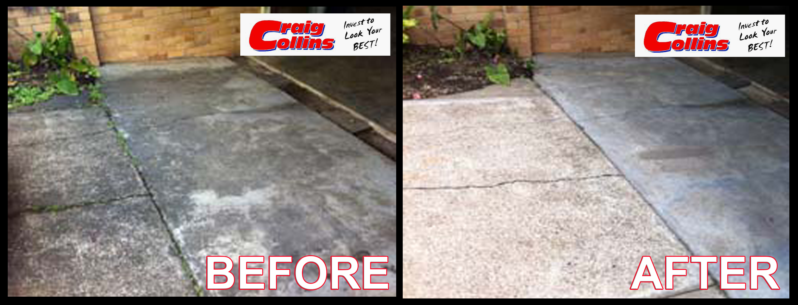 Pressure wash Before-after 2